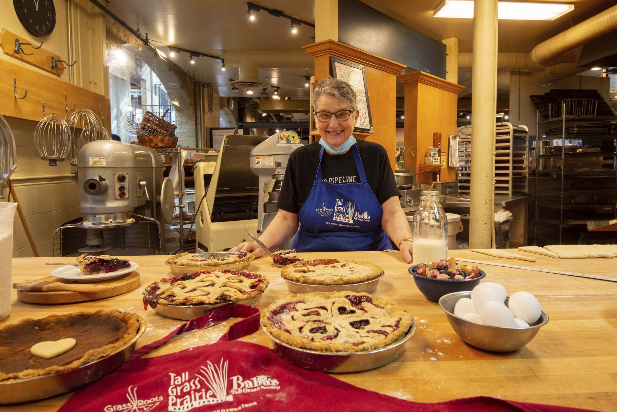 Tabitha Langel, co-owner of Tall Grass Prairie, says their pies are centred on what grows locally. (Mike Sudoma / Winnipeg Free Press)</p>