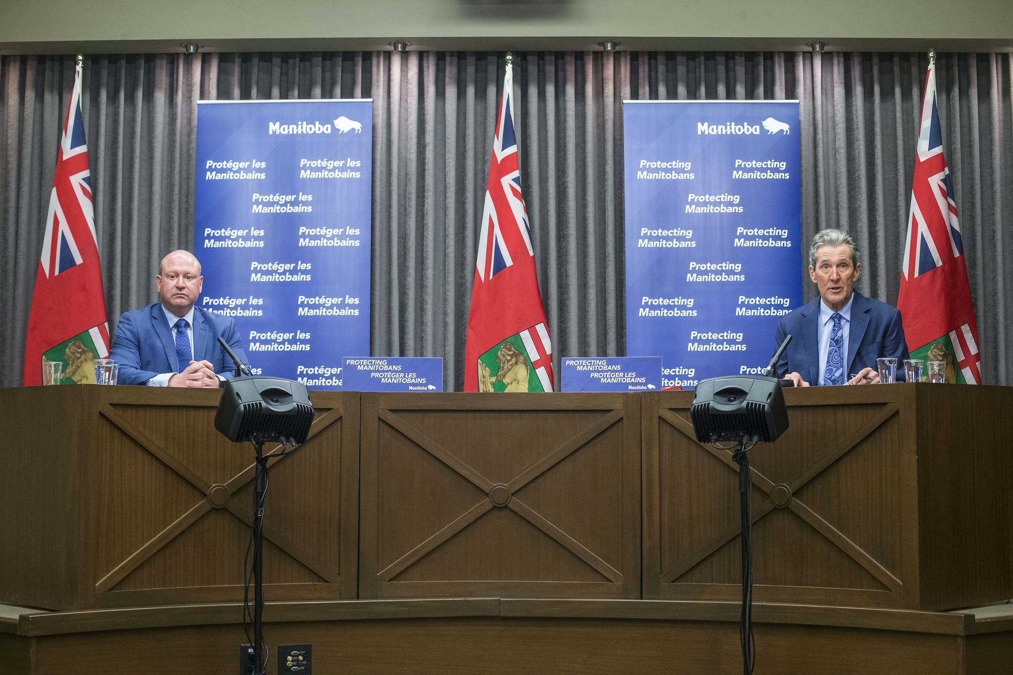 MIKAELA MACKENZIE / WINNIPEG FREE PRESS FILES</p>  You need to avoid indoor gatherings, Dr. Brent Roussin reminds us. Premier Brian Pallister says the hockey game isn't over, and we're playing defence.