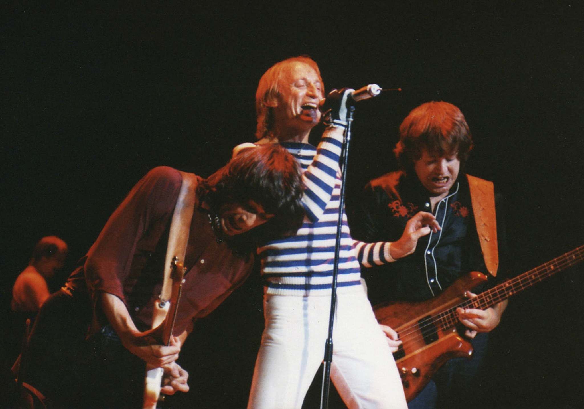 Streetheart's Jeff Neill (left), Kenny Shields and Spider Sinnaeve in 1982.</p></p>