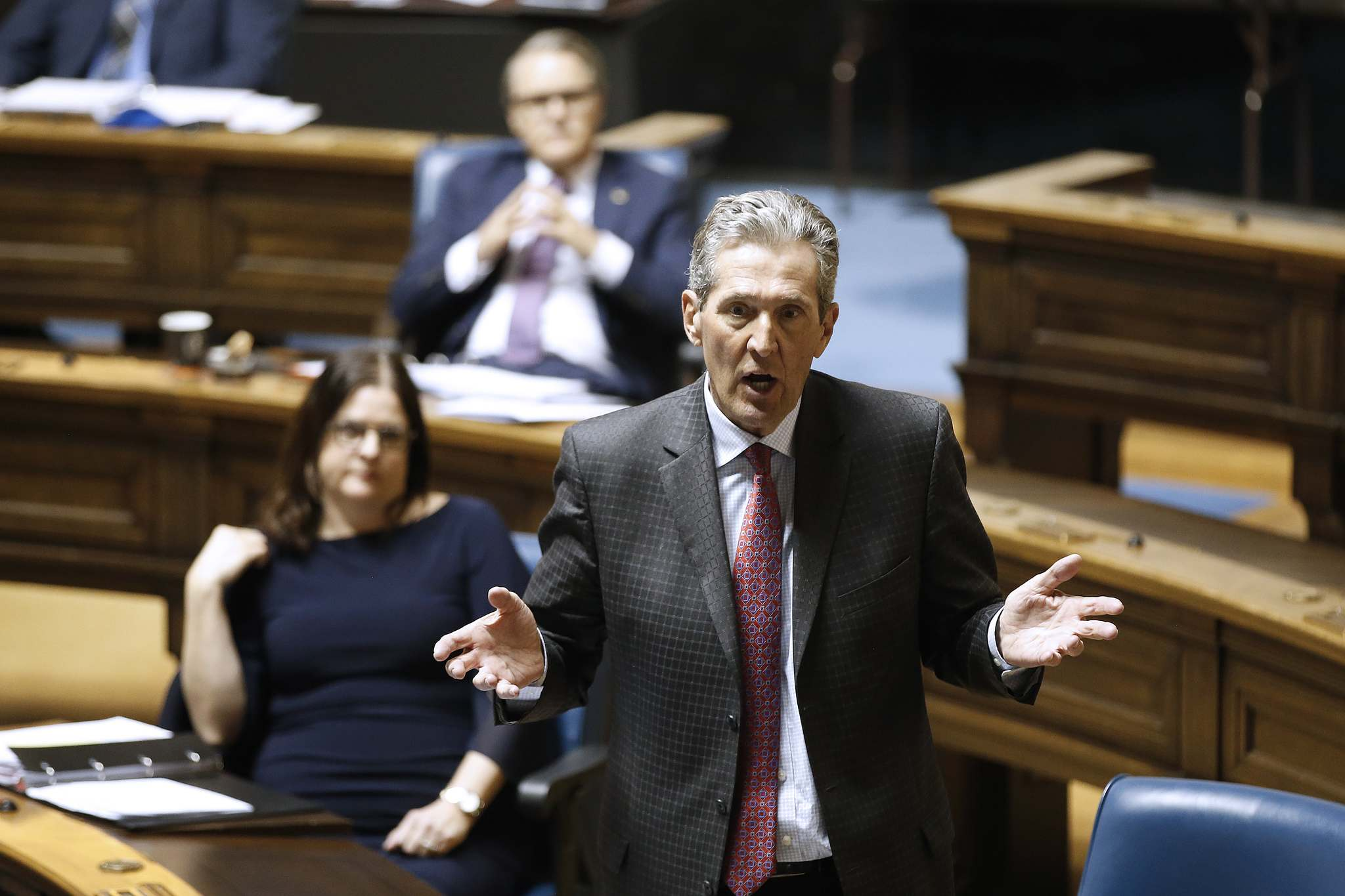 Premier Brian Pallister disputed that his government sought to cover up the value of the Saskatchewan deals. (John Woods / Winnipeg Free Press)</p>