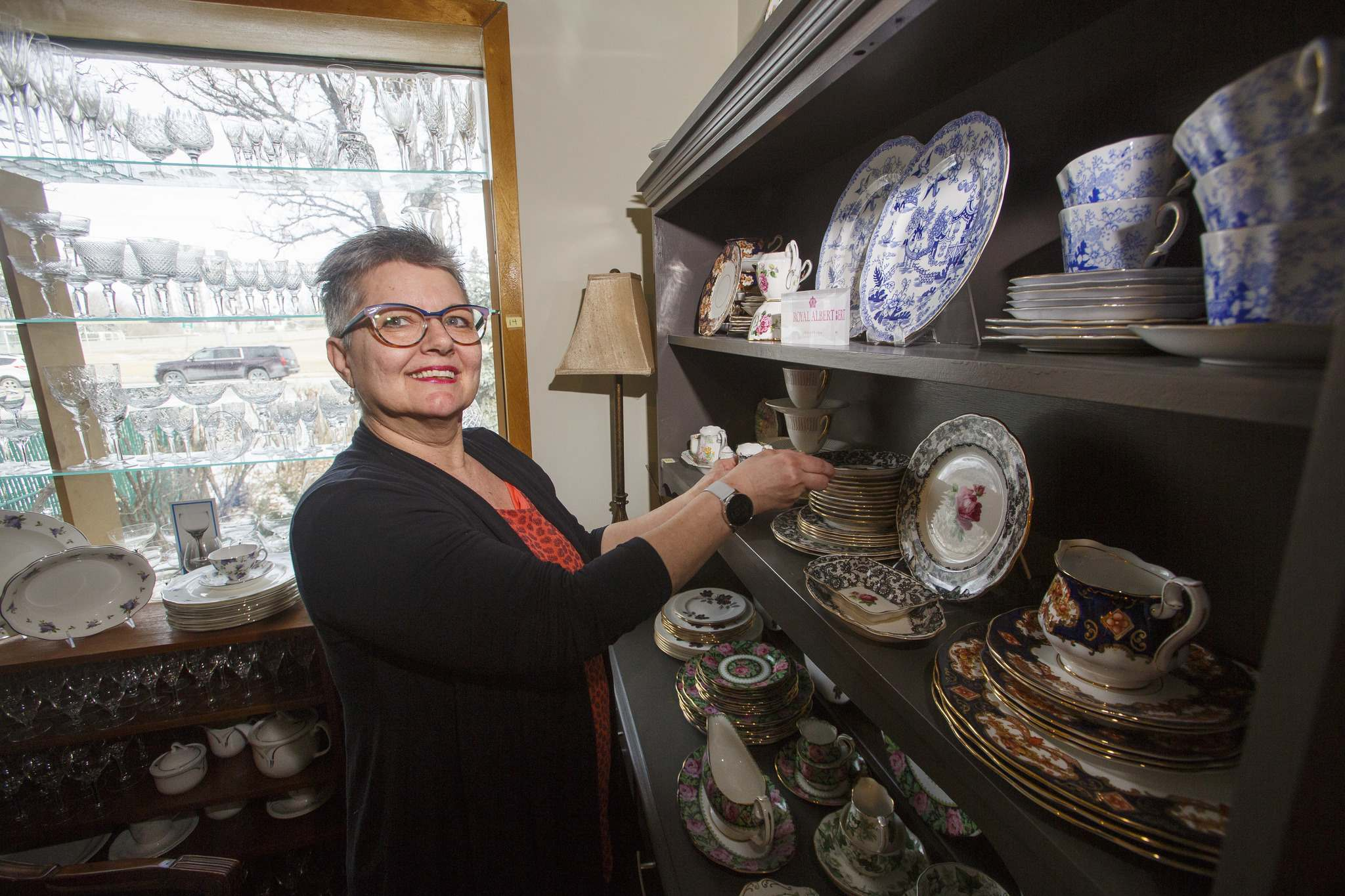 Perkins has inventory filling almost every room of her home-based business. (Mike Deal / Winnipeg Free Press)</p>