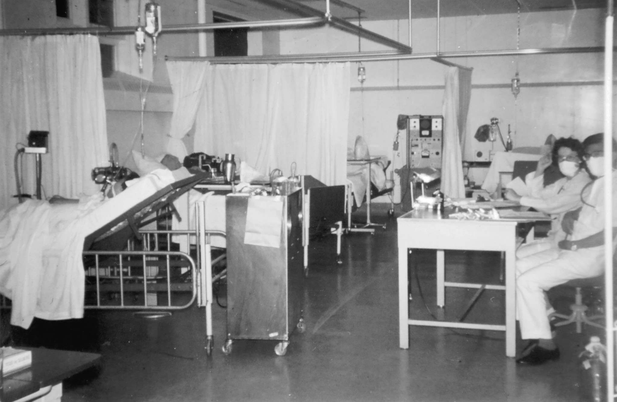 Harvey Cramp remembers observing exhausted nurses and doctors rushing in and out of the unit.