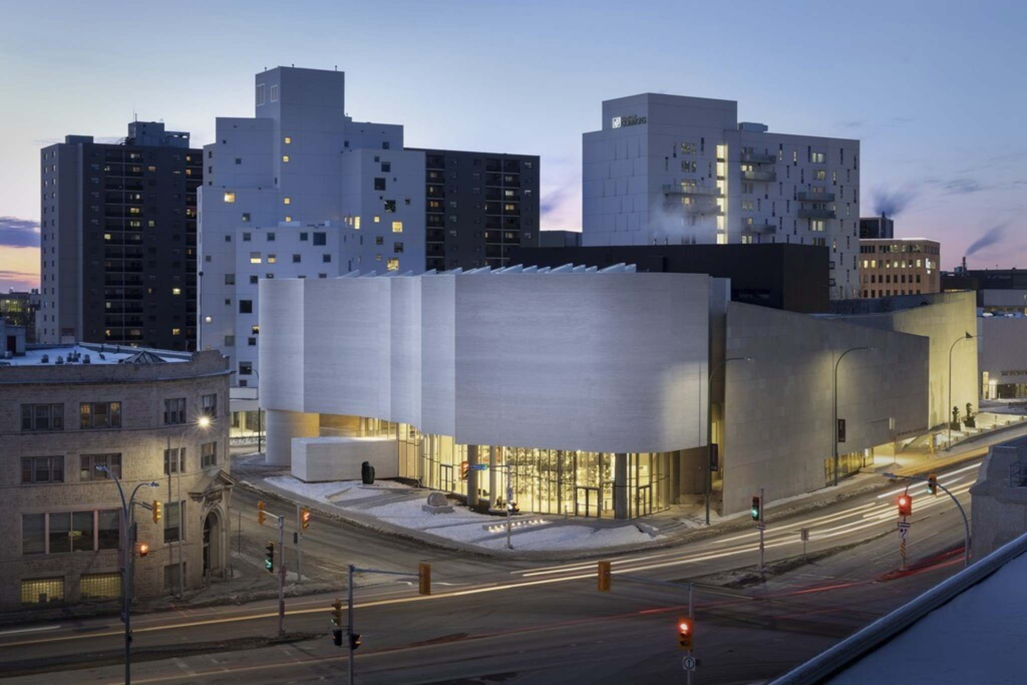 Qaumajuq, the new Inuit art centre, shown in this handout image, recently opened its doors in Winnipeg. THE CANADIAN PRESS/HO-Inuit Art Centre-Lindsay Reid</p>