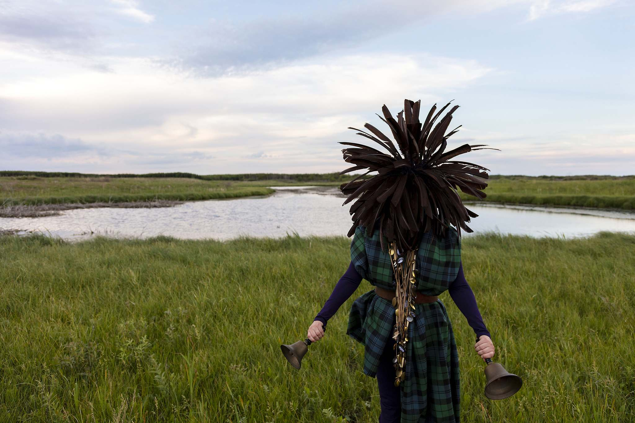 Meryl McMaster / Steven Bulger Gallery</p><p>McMaster's huge work From a Still Unquiet Place is set in Red Pheasant First Nation in Saskatchewan.</p>