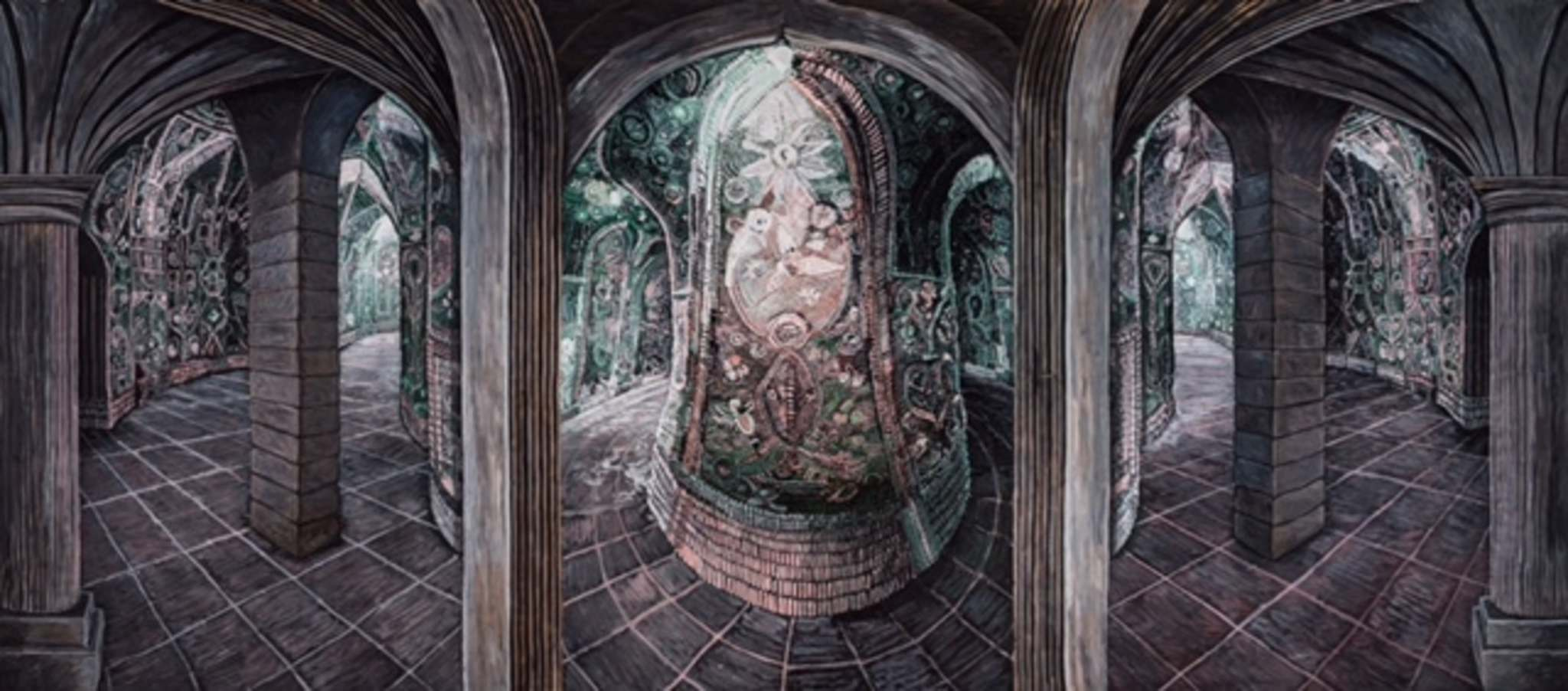 Supplied</p><p>Bev Pike's Sunken Seance Meeting Hall is one of the painter's many huge pieces.</p>