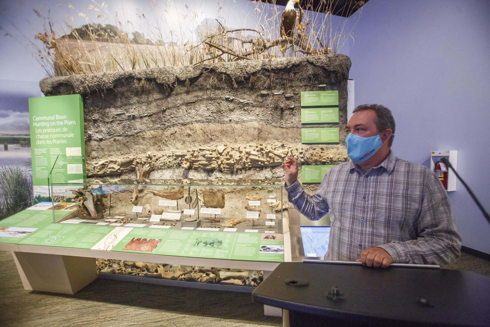 MIKE DEAL / WINNIPEG FREE PRESS</p><p>Kevin Brownlee, curator of archaeology at the Manitoba Museum, welcomed visitors to a revitalized Prairies Gallery Wednesday morning.</p>