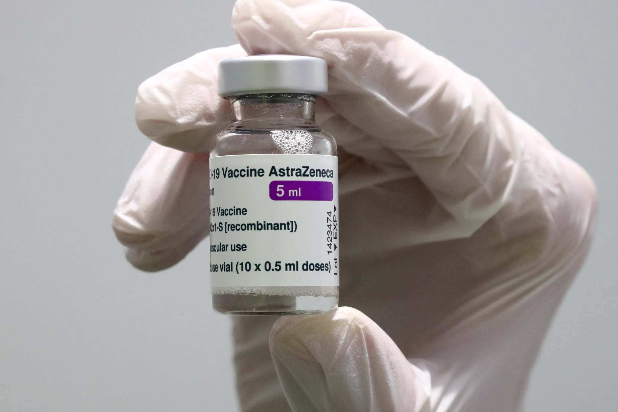 Clinics and pharmacies received a new shipment of 54,000 doses of the AstraZeneca vaccine, which will be administered to peopel 55 to 64 with serious health conditions, and anyone over the age of 64. (Matthias Schrader / The Associated Press files)</p>