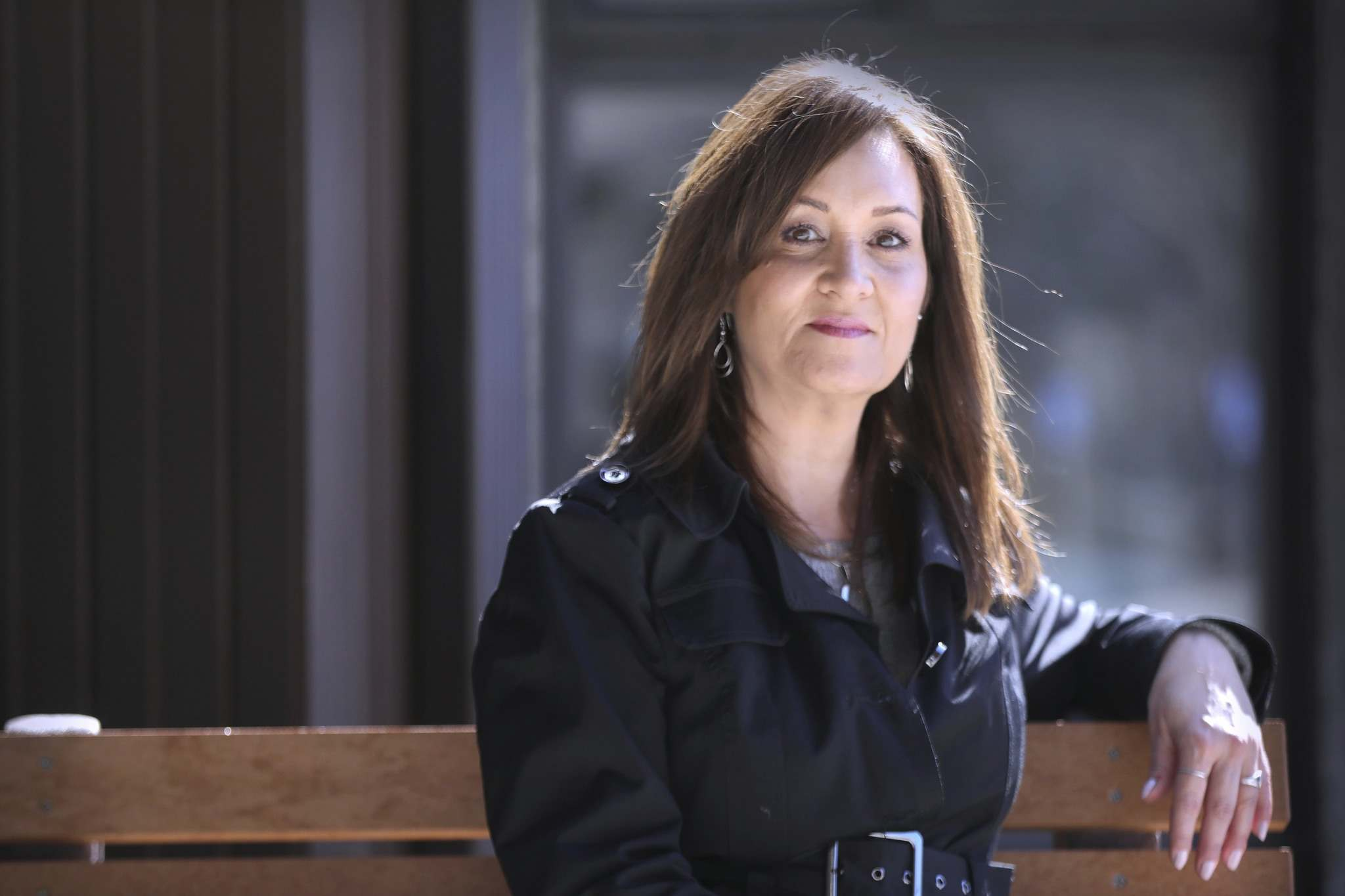 """""""I'll never forget that gut-wrenching feeling when the case came back positive,"""" says River East Personal Care Home administrator Kim Rohm, thinking back to Nov. 12. (Ruth Bonneville / Winnipeg Free Press)"""