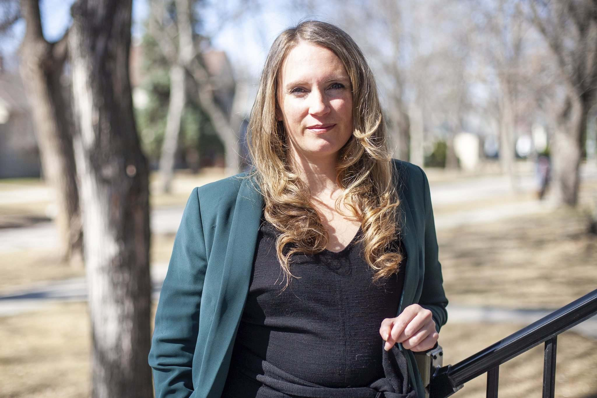 Kaitlyn Mitchell says the bill appears to target protests on public property. (Daniel Crump / Winnipeg Free Press)</p>
