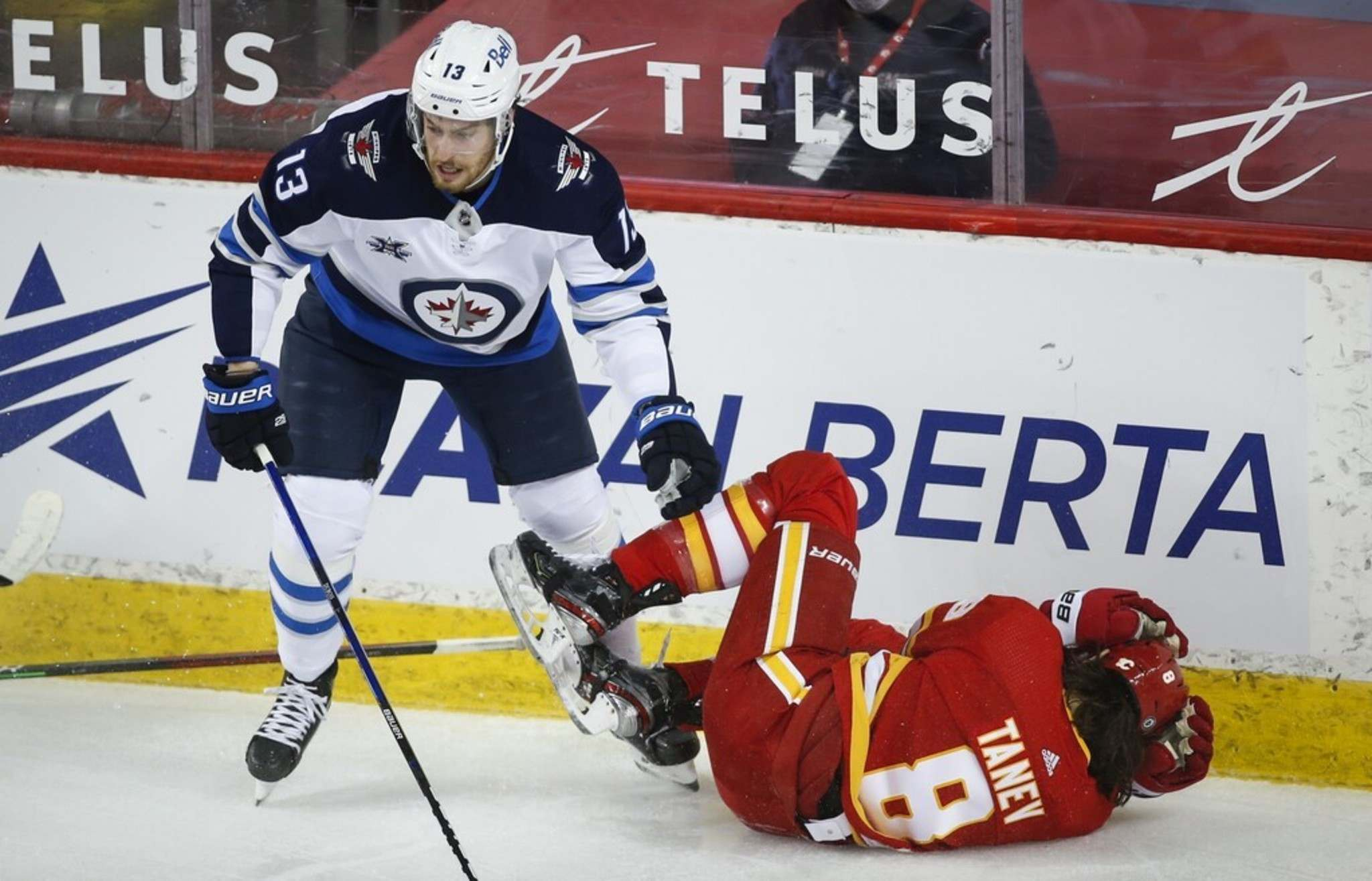 Pierre-Luc Dubois has played on different lines with several players during his time in Winnipeg. (Jeff McIntosh / The Canadian Press files)</p>