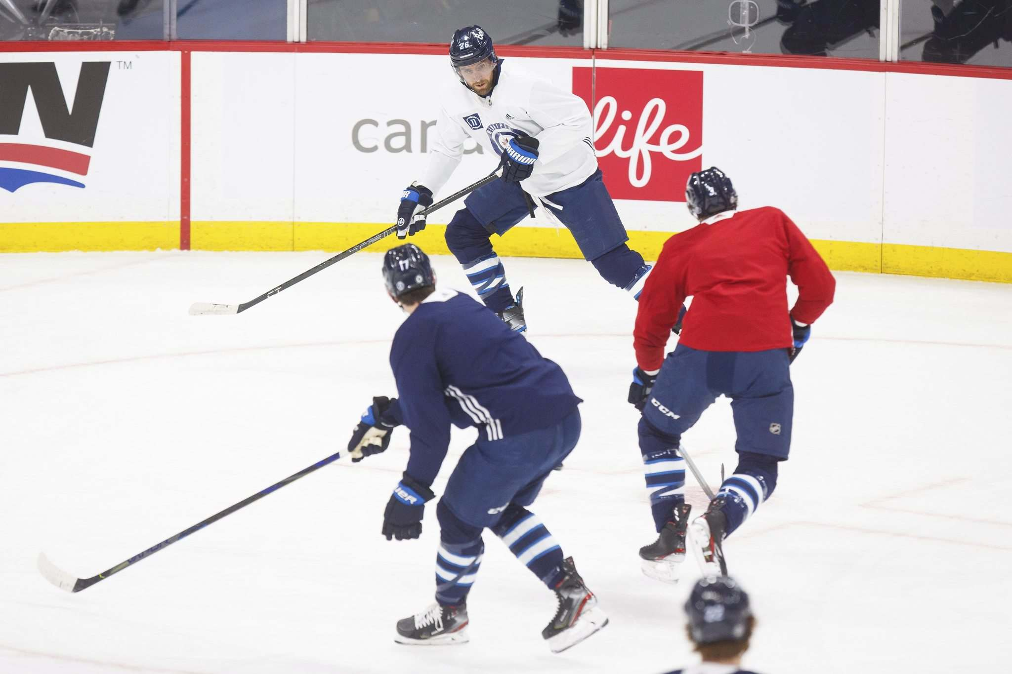 Wheeler suffered a concussion April 5 and was off skates for about five days before making incremental steps toward a return to the lineup.