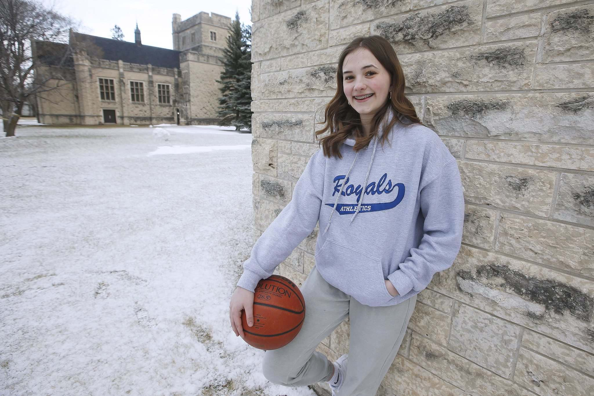 JOHN WOODS / WINNIPEG FREE PRESS</p><p>Annika Goodbrandson, a basketball player at Lord Selkirk Regional Comprehensive Secondary High School, will be suiting up for Canadian Mennonite University in the fall.</p>