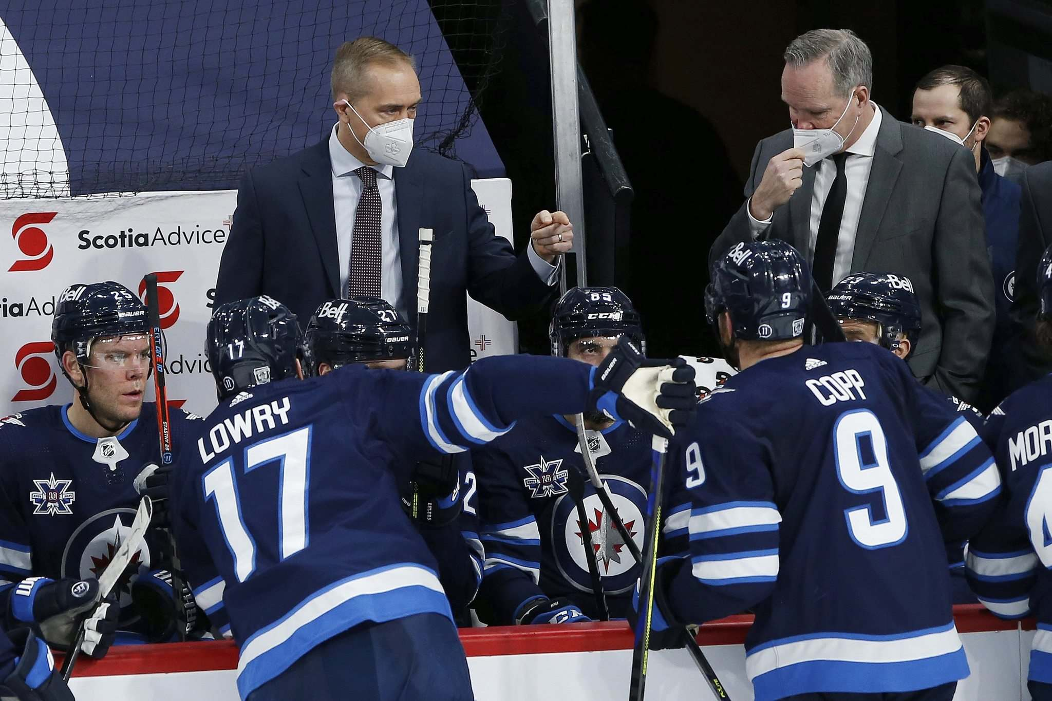 It's important for a team heading into the playoffs to feel positive, says Winnipeg Jets head coach Paul Maurice. (John Woods / The Canadian Press files)</p></p>