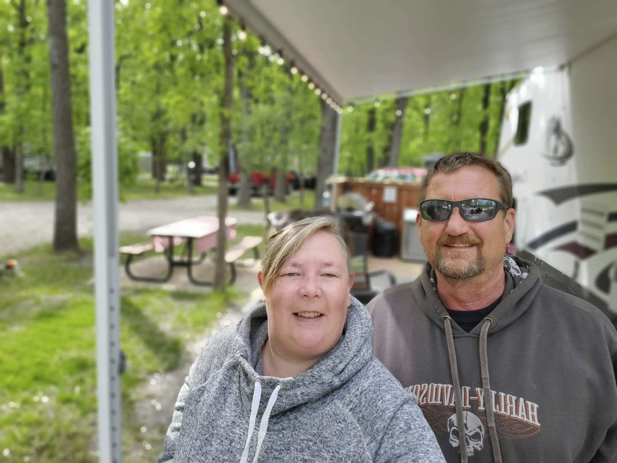 Supplied</p><p>Erica and Cliff Dyck tried camping last year during the pandemic and loved it so much, they upgraded their trailer and are back this year.</p>