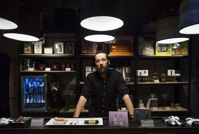 Alan Gertner CEO of Tokyo Smoke poses for a photograph at his business in Toronto on Tuesday, March, 2016. THE CANADIAN PRESS/Nathan Denette