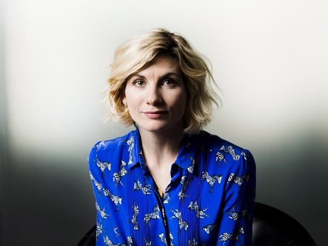 Actress Jodie Whittaker poses for a photograph in Toronto on Tuesday, October 9, 2018. Whittaker became the first female to be featured as The Doctor in the 11th series of Doctor Who. THE CANADIAN PRESS/Nathan Denette