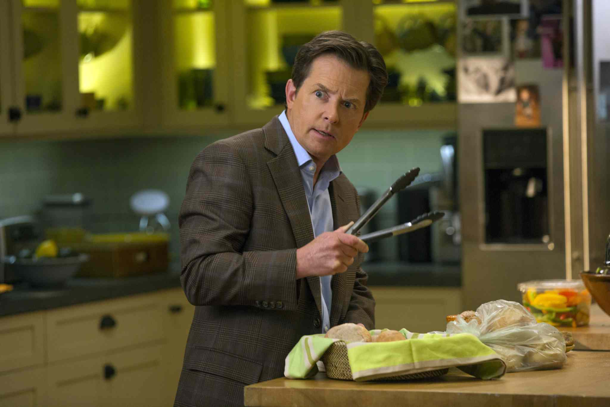 The future is now: Michael J. Fox returns in his own series as a news anchor with Parkinson's disease.