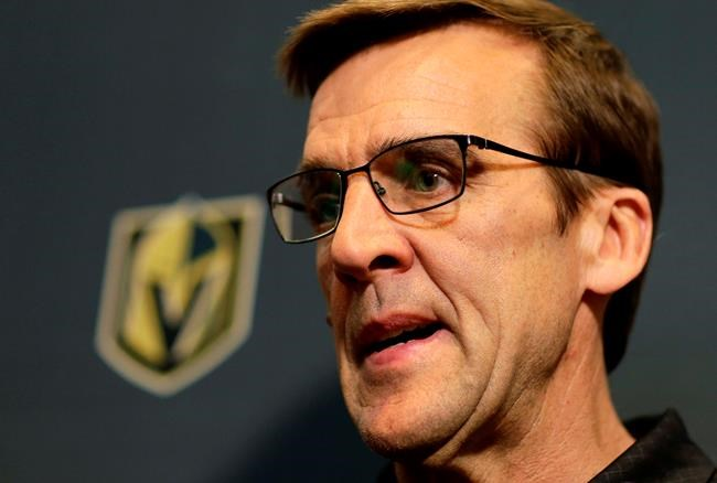 Vegas Golden Knights General Manager George McPhee.