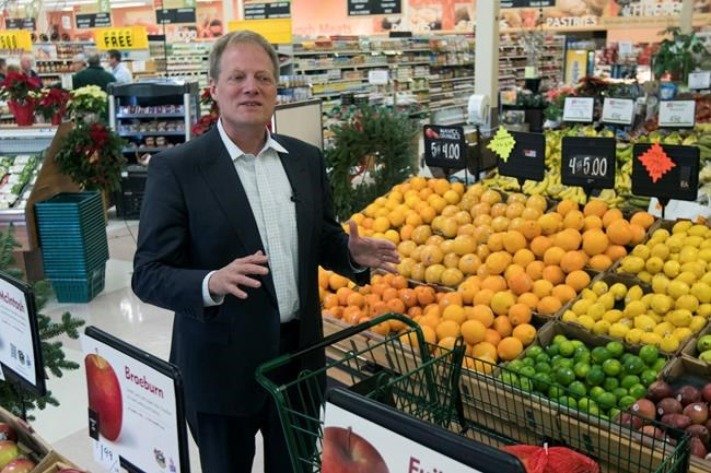FILE - In this Dec. 6, 2016 file photo, Brian Wansink speaks during an interview in the produce section of a supermarket in Ithaca, N.Y. On Thursday, Dec. 6, 2018, more work by the prominent food researcher has been retracted because of problems with the data. (AP Photo/Mike Groll)