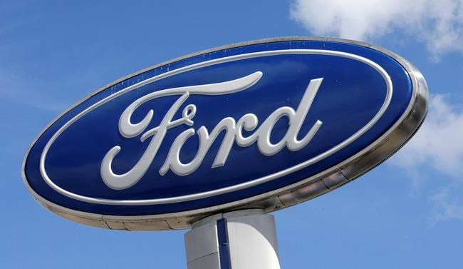 "FILE - This Jan. 17, 2017, file photo shows a Ford sign at an auto dealership, in Hialeah, Fla. Ford and U.S. government safety regulators are telling the owners of 33,428 Ranger pickup trucks in North America not to drive them because they have Takata air bag inflators ""that are an immediate risk to safety."" A company investigation into Ranger inflators from the 2006 model year found test results showing that more inflators had ruptured or recorded high internal pressure readings, company spokeswoman Elizabeth Weigandt said Monday, Feb. 12, 2018. (AP Photo/Alan Diaz, File)"
