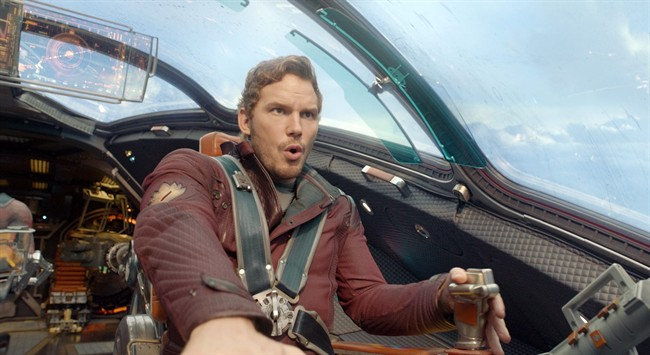 FILE - This file image released by Disney - Marvel shows Chris Pratt in a scene from