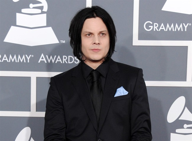 FILE - This Feb. 10, 2013 file photo shows musician Jack White at the 55th annual Grammy Awards in Los Angeles. White is going direct to vinyl with the first live performance of a song off his upcoming album on Record Store Day. Fans will get to see him perform the title track from
