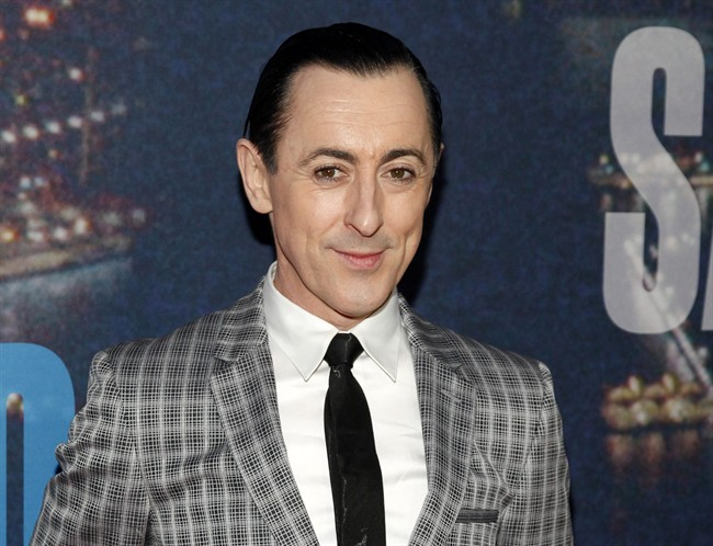"FILE - In this Feb. 15, 2015 file photo, Alan Cumming attends the SNL 40th Anniversary Special at Rockefeller Plaza in New York. Cumming, the ""Cabaret"" and ""The Good Wife"" star, will play at The Cafe Carlyle on June 2–13. His show _ ""Alan Cumming Sings Sappy Songs"" _ will feature a cellist. (Photo by Andy Kropa/Invision/AP, File)"