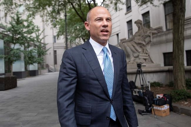 Attorney Michael Avenatti leaves Manhattan Federal court, Tuesday, Oct. 8, 2019, in New York. (AP Photo/Mary Altaffer)