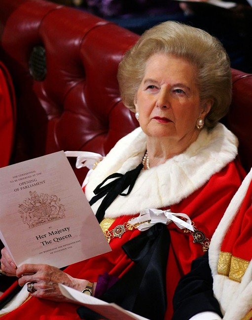 Baroness Thatcher of Kesteven in the House of Lords