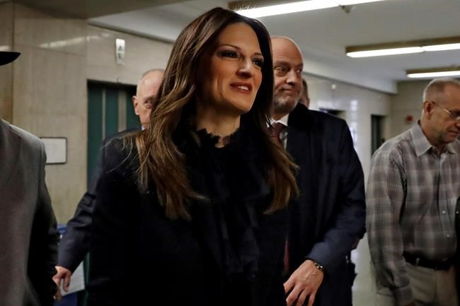 Harvey Weinstein's defense attorney Donna Rotunno arrives at court in his rape trial, in New York, Thursday, Feb. 13, 2020. (AP Photo/Richard Drew)