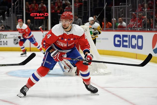 Brenden Dillon, pictured with the Washington Capitals last season, is known around the league for his physical brand of play. (Nick Wass / The Associated Press files)
