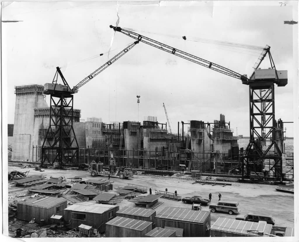 Construction of Manitoba Hydro's multi-million dollar Nelson River power development project in July 29, 1968.