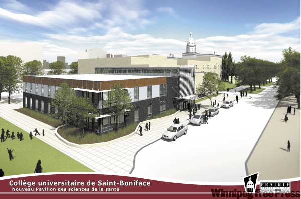 An artist's rendering of the Collège universitaire de Saint-Boniface once work is completed.