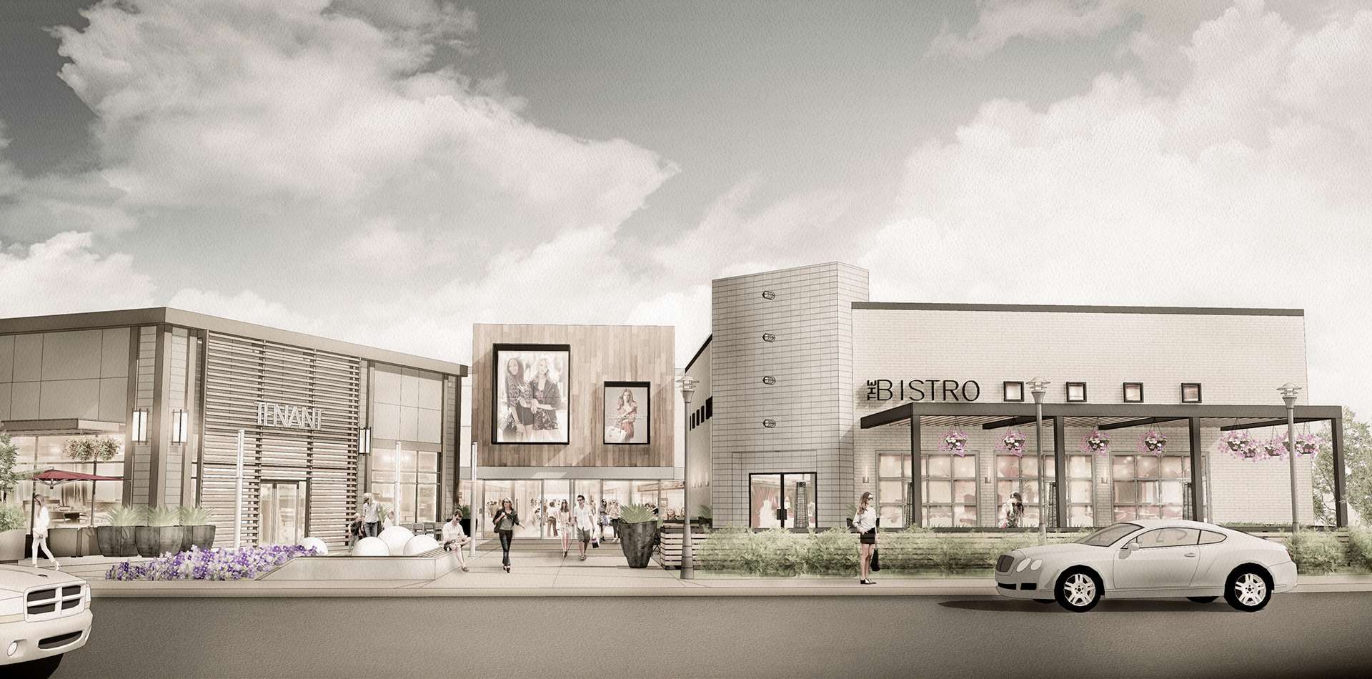 An artist's rendering of Outlet Collection Winnipeg, scheduled to open in May