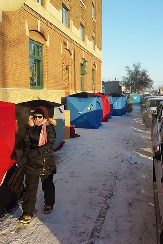 People camped outside Regina's Bushwakker Brew Pub to get its first  edition of a new brew this winter.