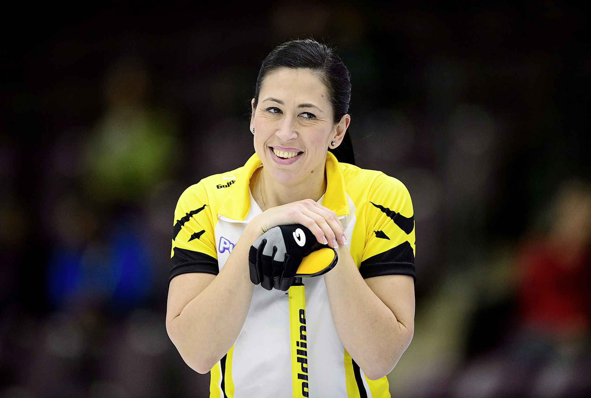 "Manitoba second Jill Officer smiles while at the Scotties Tournament of Hearts in Penticton, B.C. Teammate Dawn McEwen calls Officer the ""nicest person ever."""