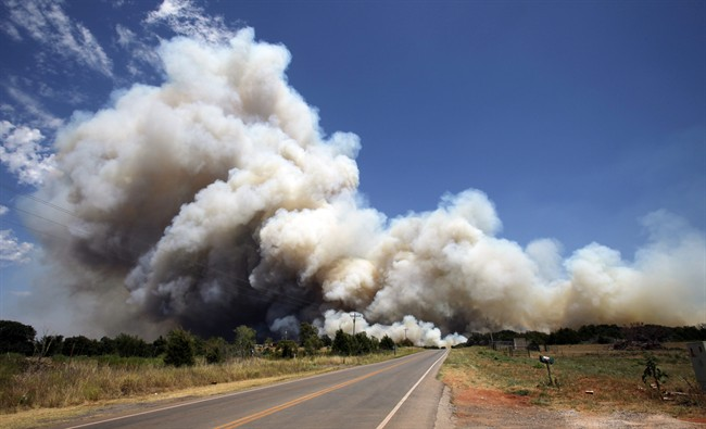 ... south of the Oklahoma City area has set at a number of homes on fire.