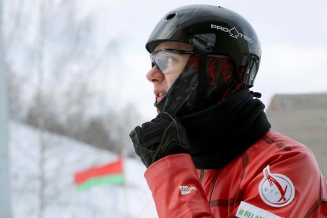 "In this Sunday, Feb. 4, 2018 photo, Belarusian freestyle skier Dmitry Mazurkevich trains at a national training base just north Minsk, Belarus. The lessons learned from the vaunted Soviet gymnastics program all those years ago are still producing Olympic gold medalists - in freestyle skiing. Competitors from Belarus won the men's and women's aerials gold at the 2014 Sochi Olympics, and they will be in contention again this year in Pyeongchang. ""Apart from great technique,"" said world junior champion Mazurkevich, who has been left out of the Pyeongchang team, ""we're taught to conquer ourselves, to conquer the fear that rises in me every time before the jump."" (AP Photo/Sergei Grits)"