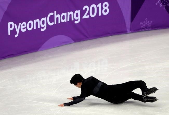 United States' Nathan Chen performs in the men's single short program team event at the 2018 Winter Olympics in Gangneung, South Korea, Friday, Feb. 9, 2018. (AP Photo/Julie Jacobson)