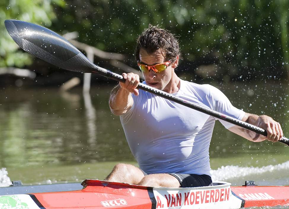 Canadian Olympic kayaker Adam van Koeverden trains at the Burloak Canoe Club in Oakville, Ont. on Wednesday, June 13, 2012.  (Aaron Vincent Elkaim / THE CANADIAN PRESS)