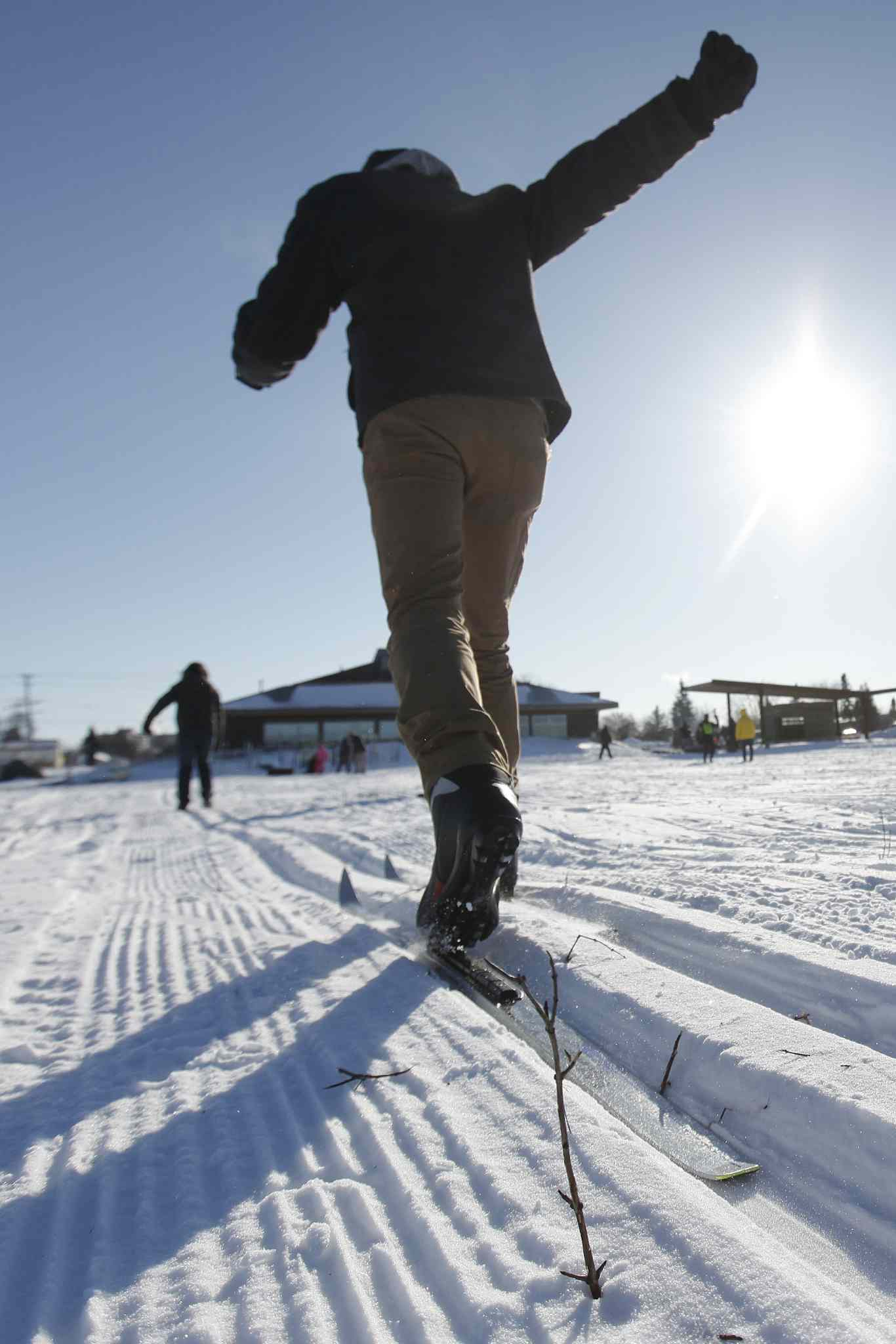 Cross-country skiers hit the trails during Snow Trek.
