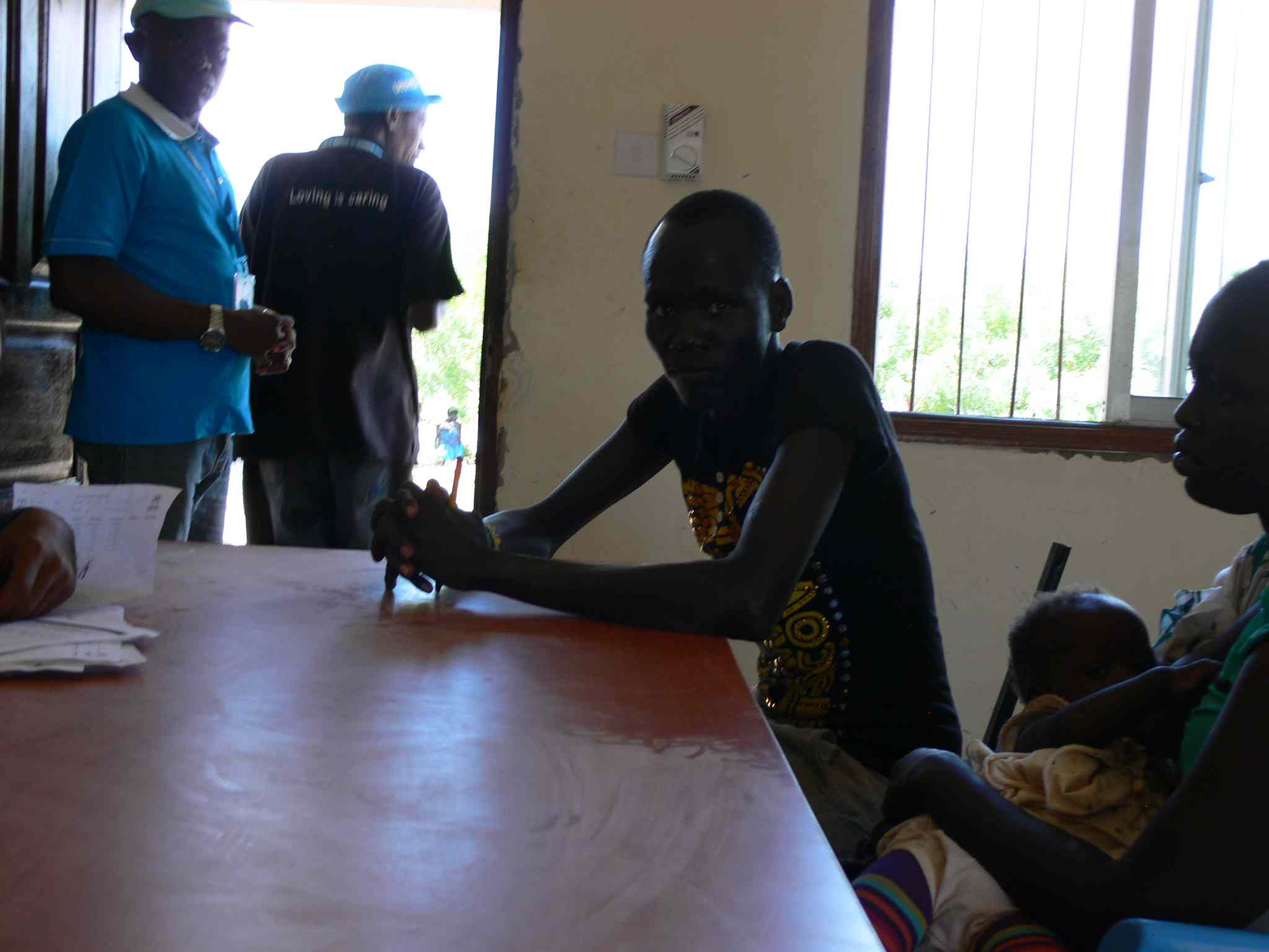 Refugees registering at the Ifo 2 camp  are interviewed by UNHCR staff. The Kenyan government lifted a ban on the registering of new refugees at Dadaab and in late May more than 800 refugees registered over two days.