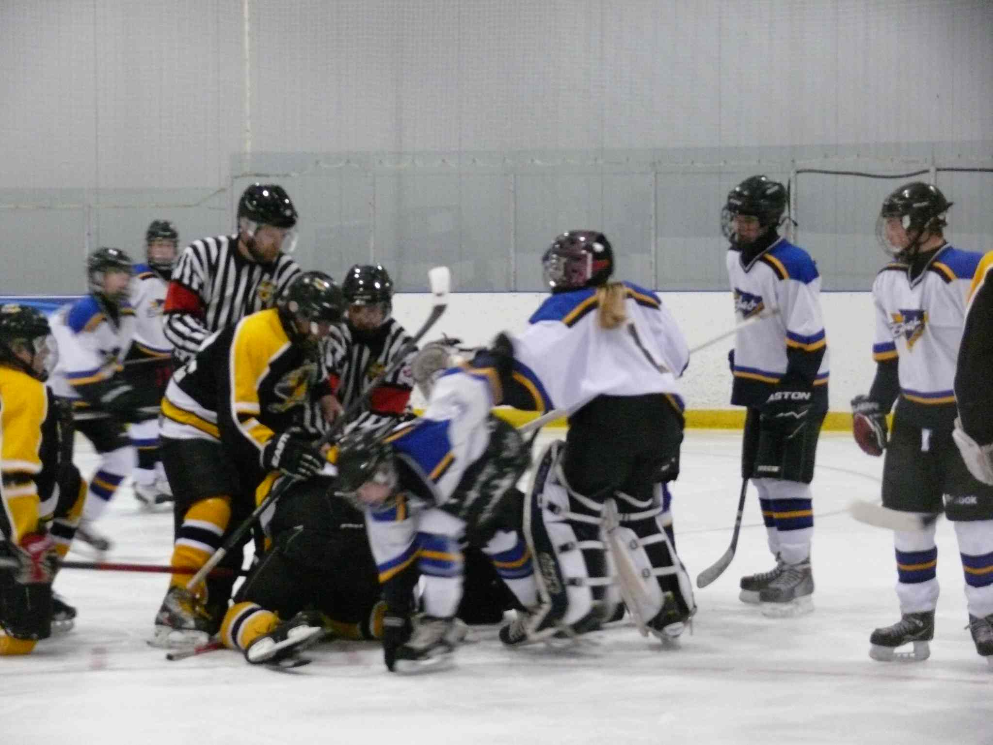 Two teens were charged with assault during this on-ice incident during a game in Stonewall on March 30.