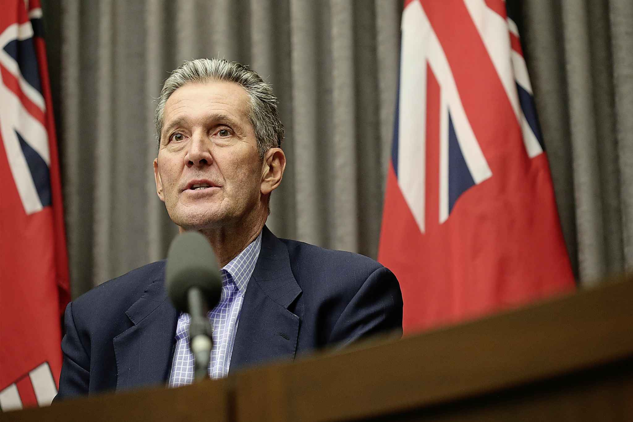 "Manitoba Premier Brian Pallister: ""We want to take action immediately."""