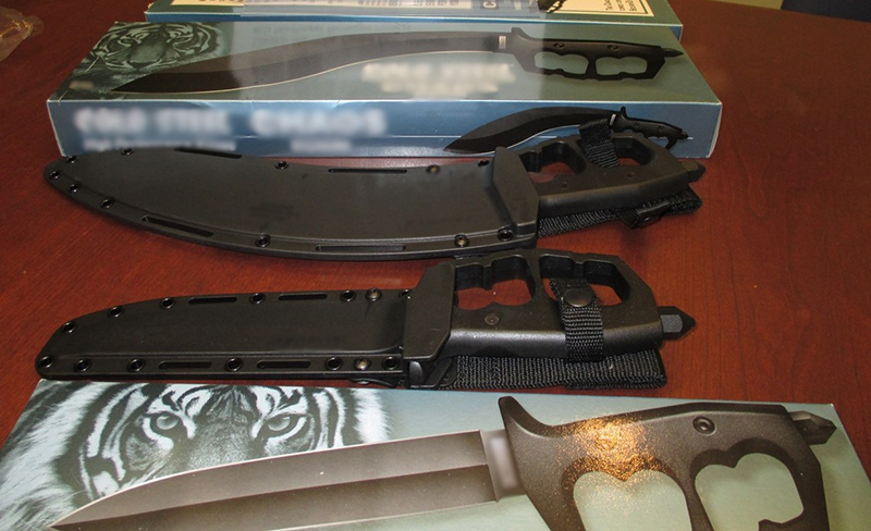 daggers seized by the Canada Border Services Agency.