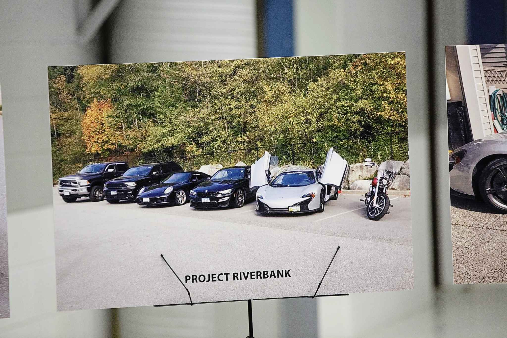 Photo of some of the vehicles on display at the MPI depot that were seized during Project Riverbank.