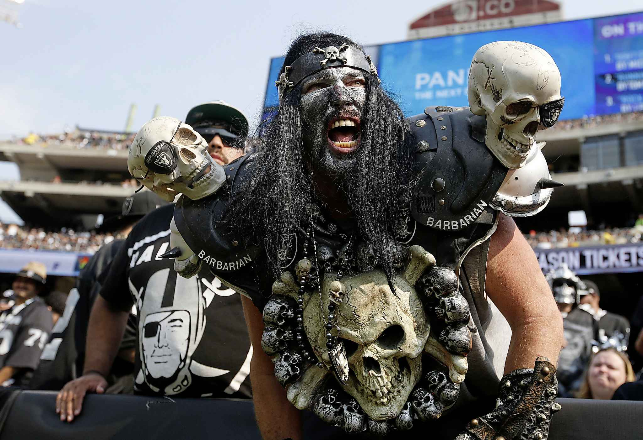 Oakland Raiders fans are some of the rowdiest fans in American sports.