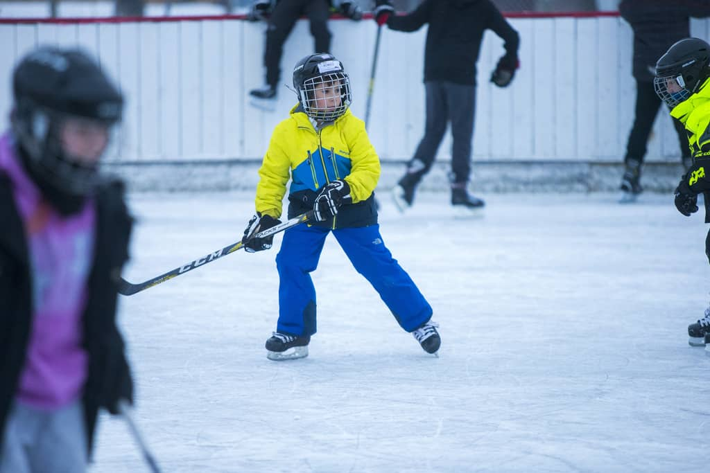 Romeo Conrad, eight, gets in some ice time at Windsor Community Centre rink Thursday.