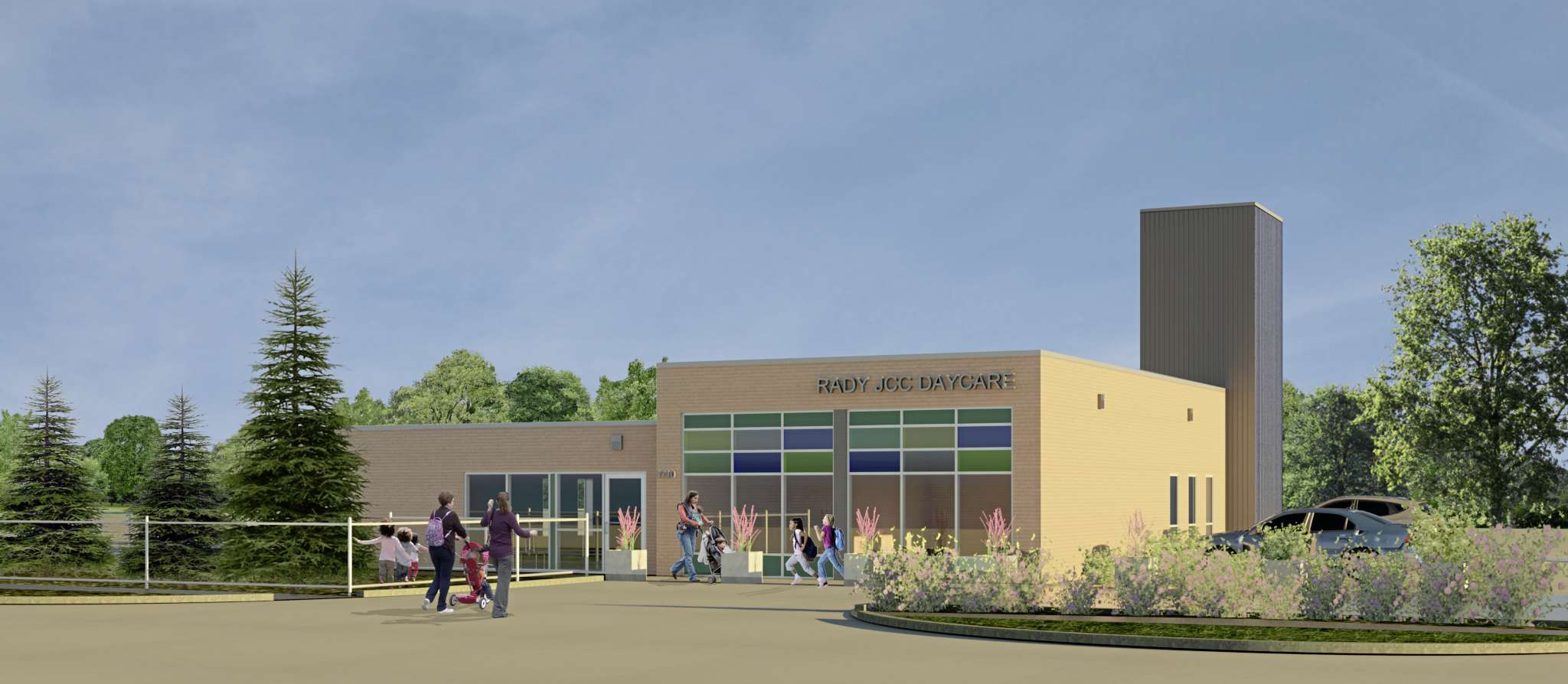 An artist's rendering of the new Rady JCC Daycare at 1710 Grosvenor Avenue set to open in 2016.