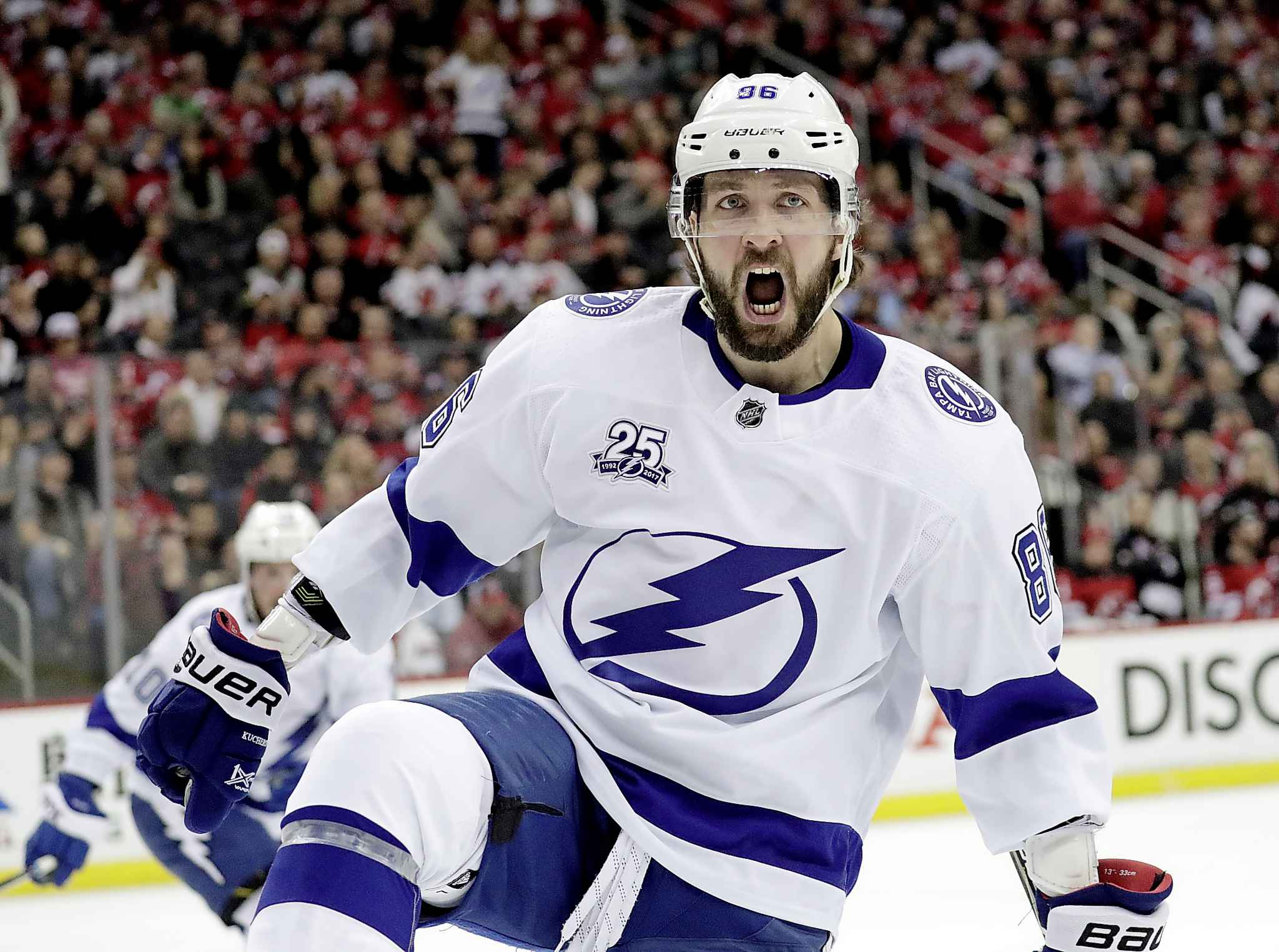 Tampa Bay right wing Nikita Kucherov, drafted in the same year as Mark Scheifele, recently signed an eight-year, $76-million contract extension with the Lightning.